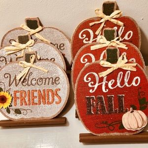 SET OF 6 FALL DECORATIONS